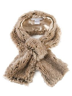 Chinchilla Faux Fur Slip-thru Scarf
