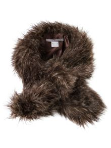 Raccoon Faux Fur Slip-thru Scarf
