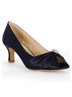 Satin D Fit Shoes with Diamante Detail