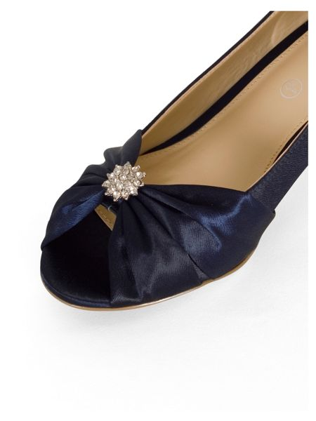 Chesca Satin D Fit Shoes with Diamante Detail