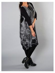 Black Printed Dress with 3/4 Sleeves
