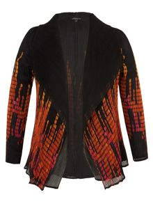 Black/Orange Reversible Crush Plt Shrug
