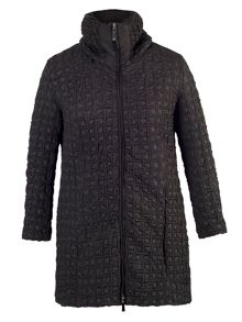 Chesca Black mini bonfire quilted coat