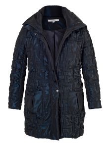 2-tone Bonfire Quilted Coat