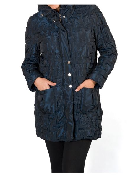 Chesca 2-tone Bonfire Quilted Coat