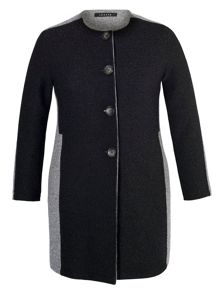 Chesca Collarless Coat