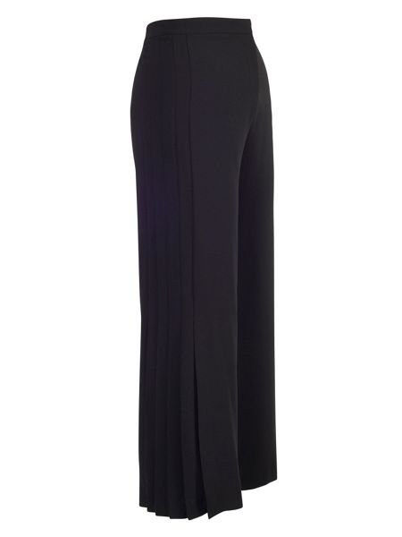 Chesca Black Pleat Trim Trousers