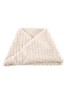 Chesca Ivory Diamond Soft Faux Fur Snood