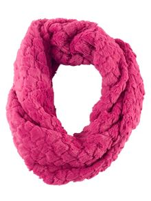 Chesca Fuchsia Diamond Soft Faux Fur Snood