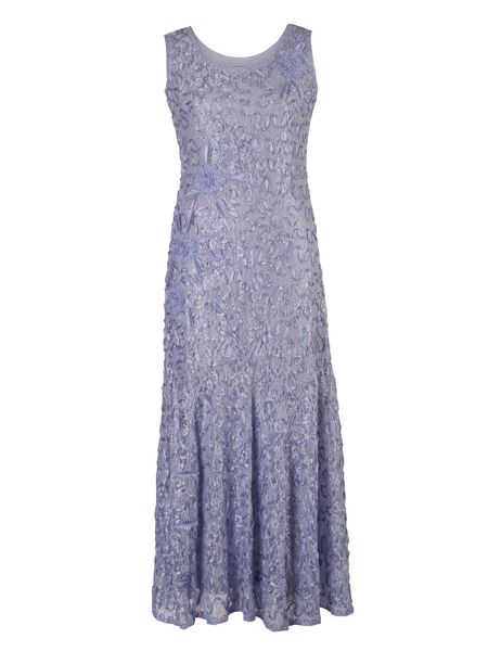 Chesca Plus Size Lilac Lace Cornelli Dress