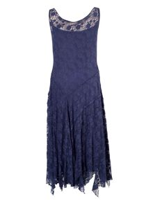 Night Sky Stretch Lace Cinderella Dress