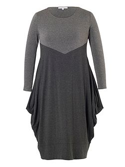 Plus Size Grey Marl Jersey Dress