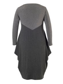 Grey Marl Jersey Dress