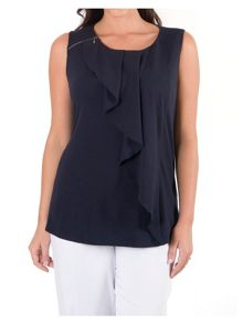 Chesca Waterfall Front Jacquard Top