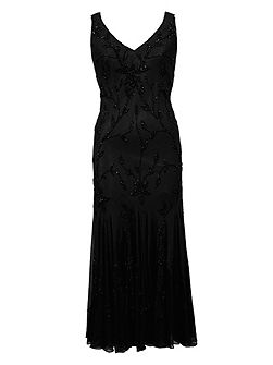 Black All Over Beaded Dress