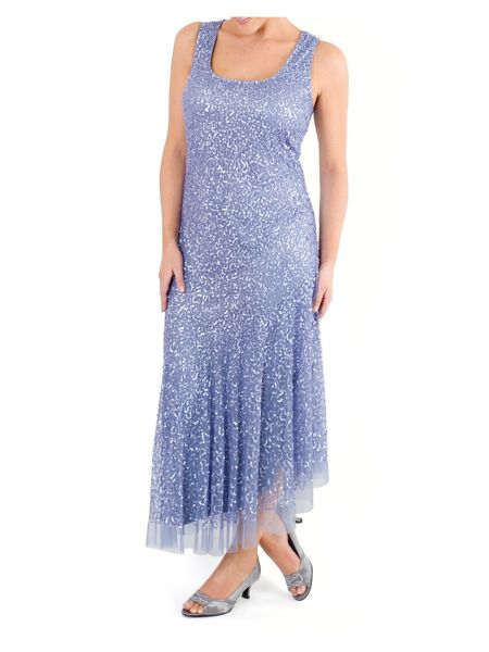 Chesca Matt Vermicelli Sequin Mesh Dress