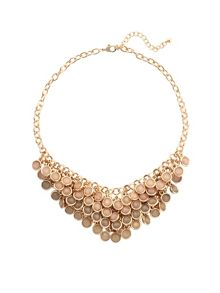Bead cluster short necklace