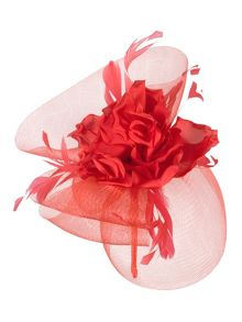 Chesca Rose and Feathers Fascinator