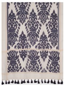 Navy/Cream Printed Oblong Scarf