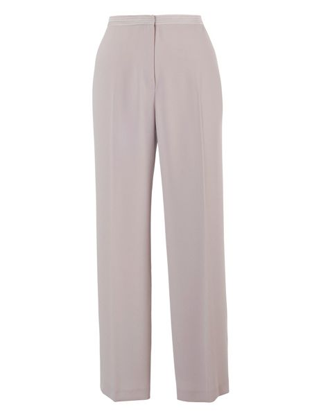 Chesca Plus Size Mink Satin Back Crepe Trouser