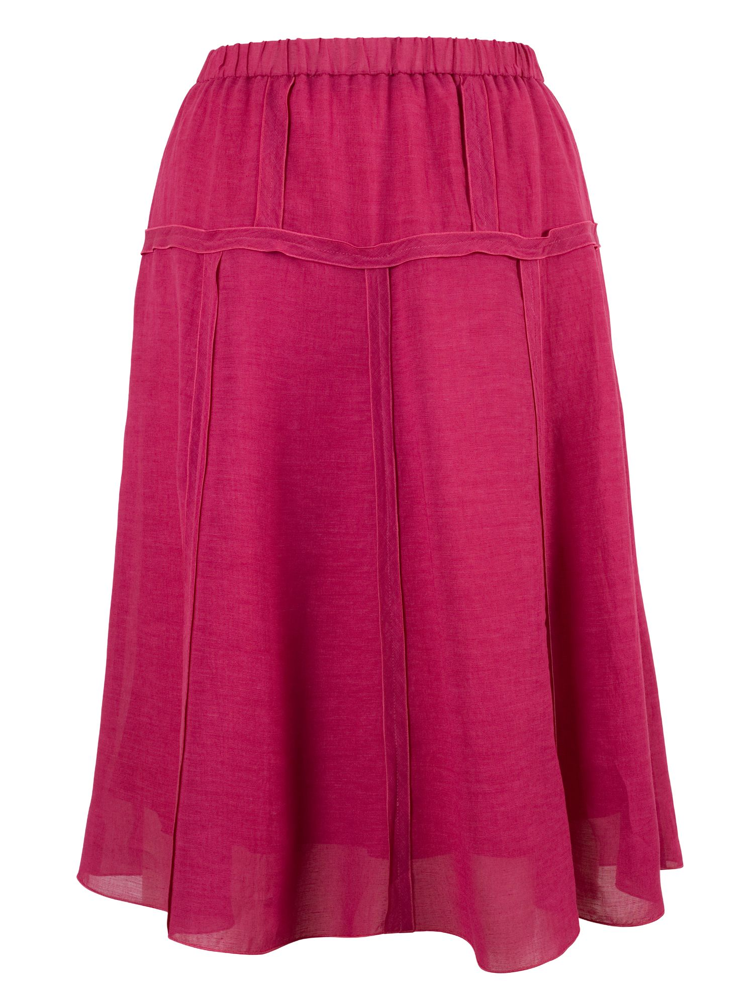 Chesca Tiered Linen Skirt, Pink