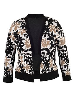 Floral Print Fancy Jersey Shrug