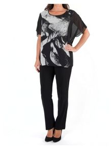 Chesca Plus Size Abstract Print Tunic