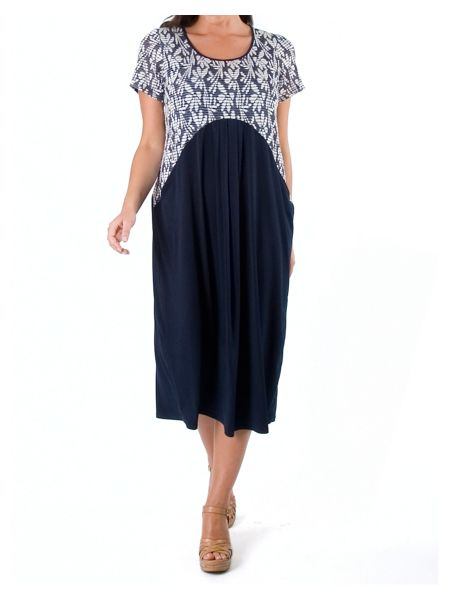 Chesca Daisy Jersey Dress with Contrast Trim