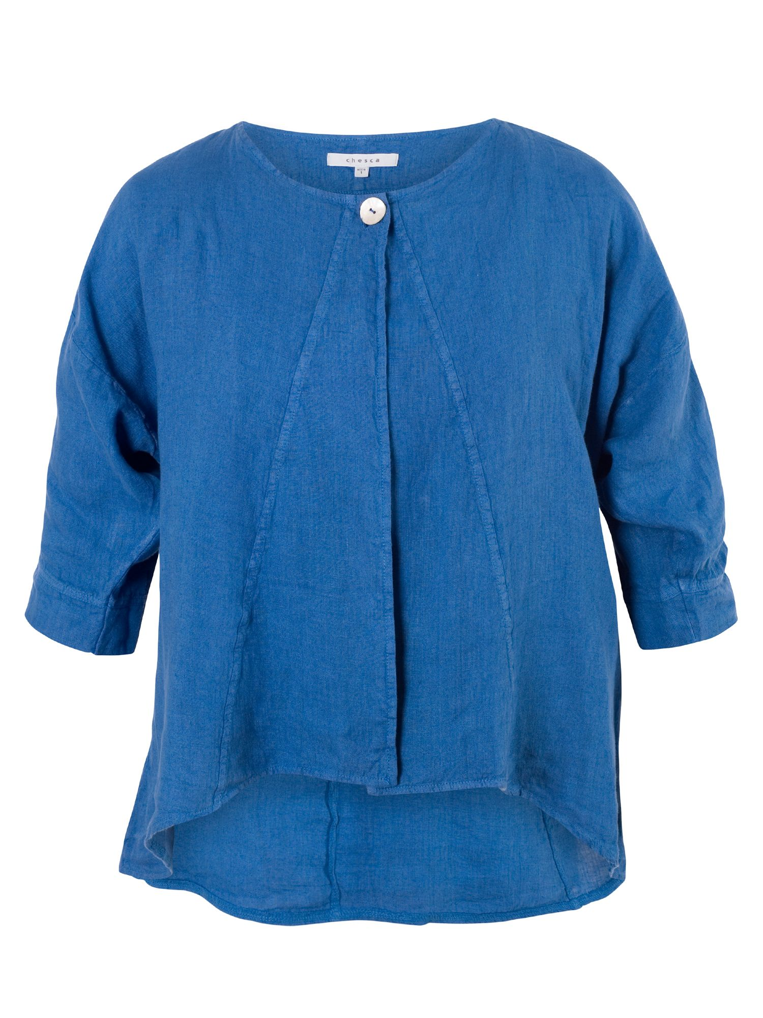 Chesca Linen Jacket, Blue