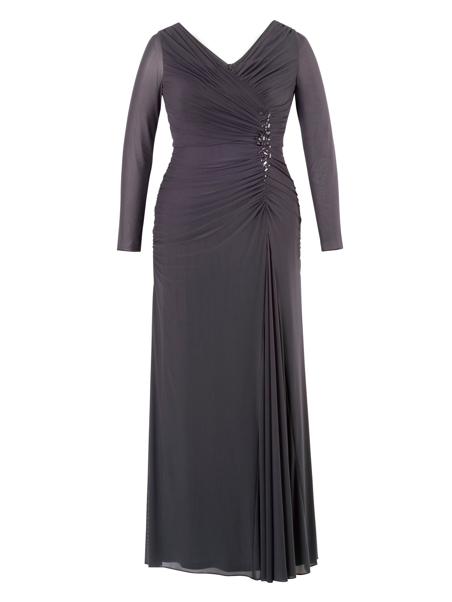 1940s Dresses and Clothing UK Chesca Beaded Mesh Maxi Dress £175.00 AT vintagedancer.com