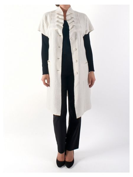 Chesca Sleeveless Boiled Wool Coat