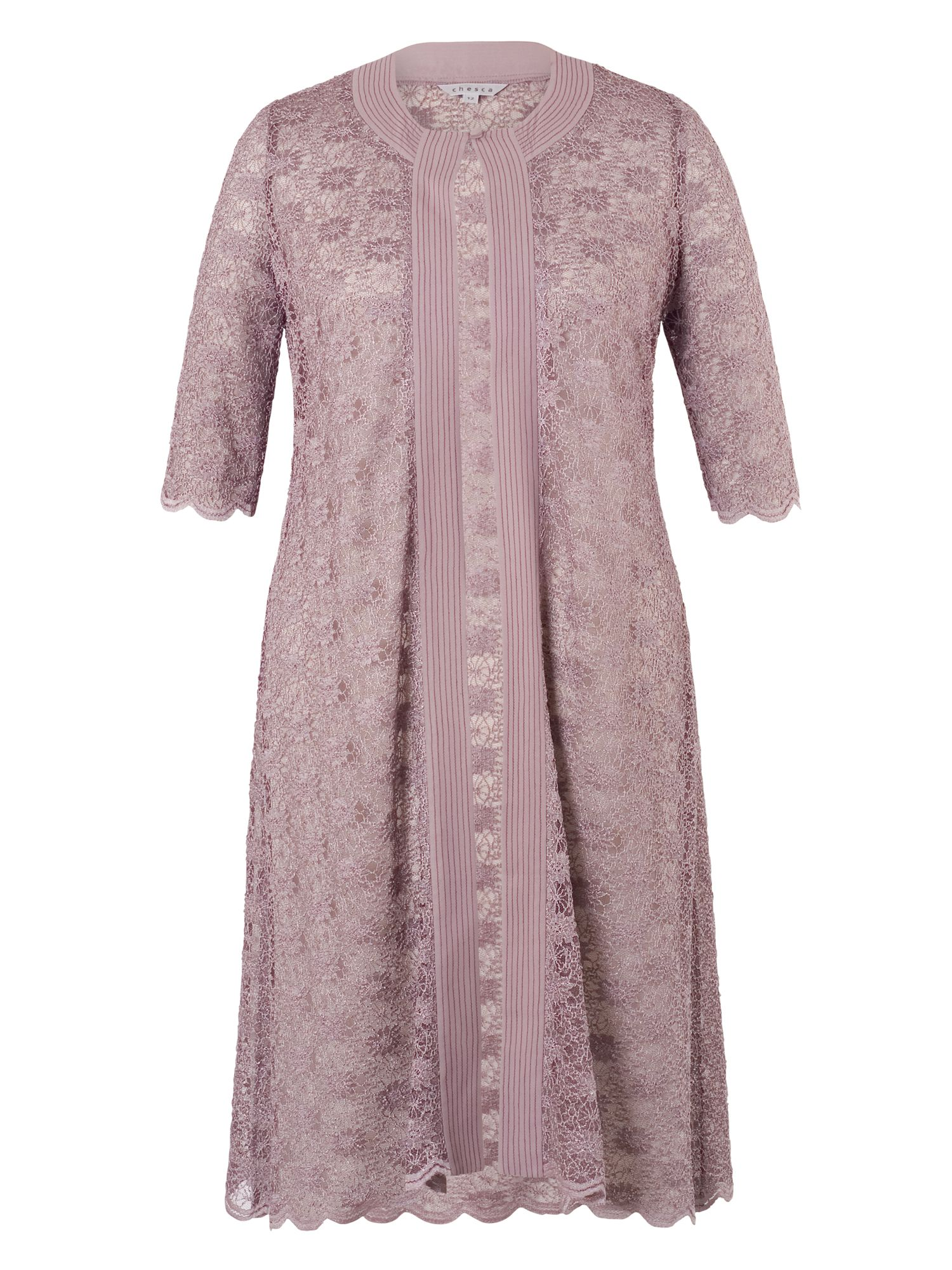Chesca Scallop Lace Coat, Lavender