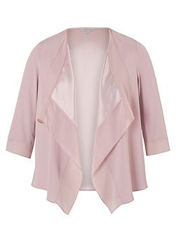 Satin Back Crepe Jacket