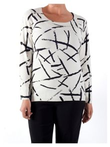 Chesca Abstract Brush Stroke Jumper