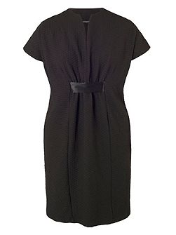 Pique Jersey Belted Dress