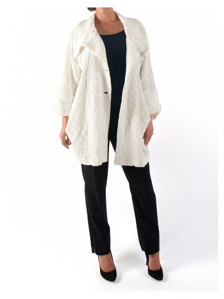 Chesca Lattice Jacquard Coat