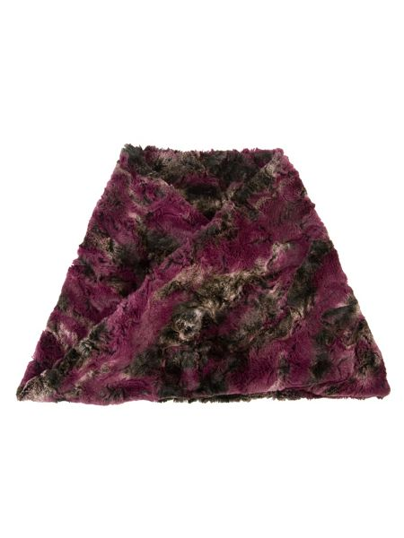 Chesca Abstract Printed Fur Snood