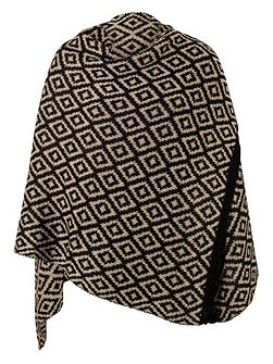 Oversized Knitted Aztec Jacquard Scarf