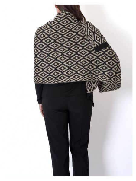 Chesca Oversized Knitted Aztec Jacquard Scarf