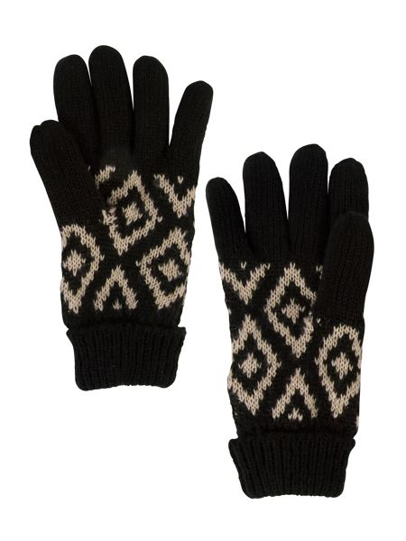 Chesca Knitted Aztec Jacquard Glove