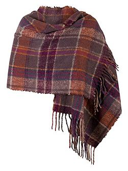 Super Soft Knitted Check Scarf