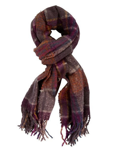 Chesca Super Soft Knitted Check Scarf