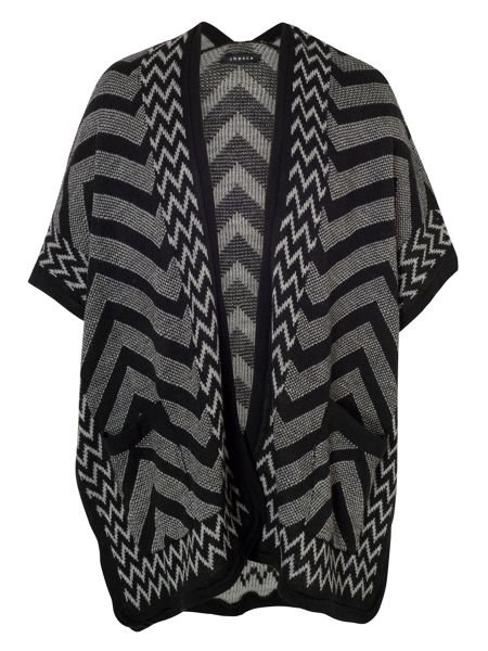 Chesca Zigzag Knitted Jacquard Wrap