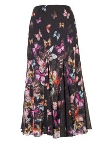 Chesca Butterfly Print Border Skirt
