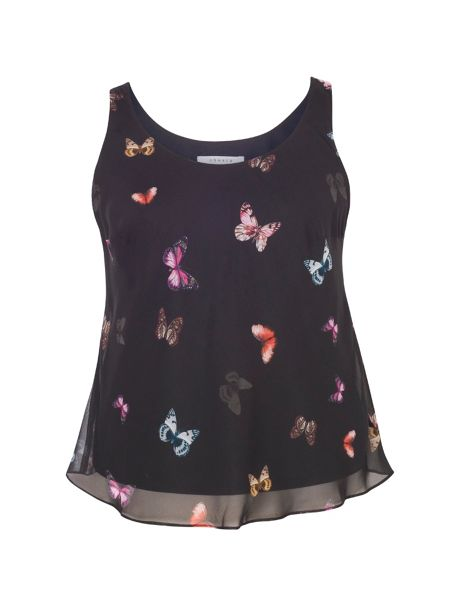 Chesca Butterfly Print Camisole
