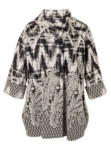 Chesca Paisley Border Jacquard Coat
