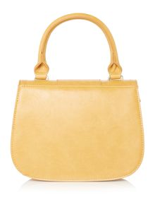 Yellow mini flapover crossbody bag