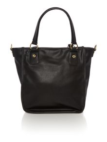 Ollie & Nic India black multi patch tote bag
