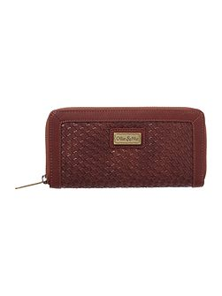 Kane tan ziparound purse