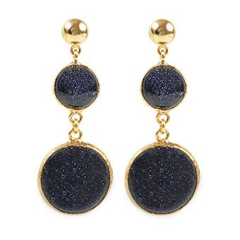 Star Stone Brass Earrings